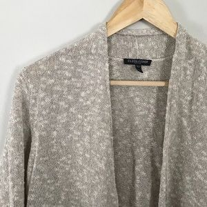 Eileen Fisher PL Linen Open Cardigan Neutral Color